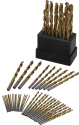 Ironton 63pc Titanium-Coated Drill Bit Set for $10 + free shipping