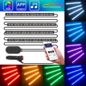 Minger Car LED Strip Light with App Control for $14 + free shipping w/ Prime